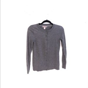Banana Republic 100% Merino Wool Grey Cardigan S